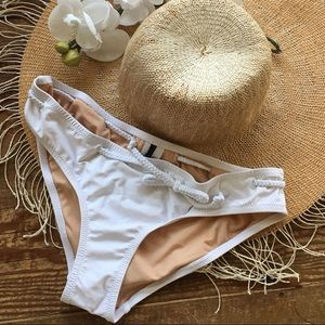 J. Crew White Nautical Bikini Bottoms